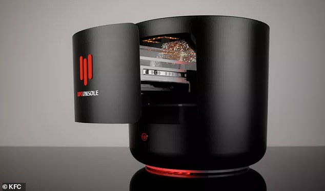 Fast-food giant KFC unveiled the new KFConsole, a working PC gaming system with a built-in 'chicken chamber' that will keep your three-piece warm