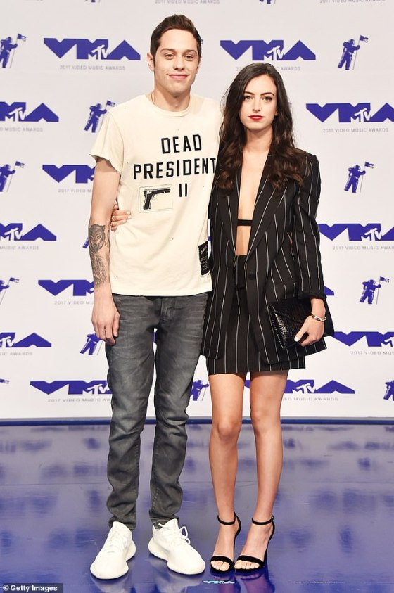 Kind ex: Pete Davidson broke the silence with the recently published memoirs of his ex-girlfriend Cazzie David, Nobody Asked for This, which contained an essay on their 2018 breakup;  seen in 2017