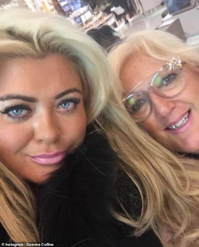 Festive break:Gemma took her mother Joan on a Christmas trip to London just days before she became 'extremely unwell' with COVID-19