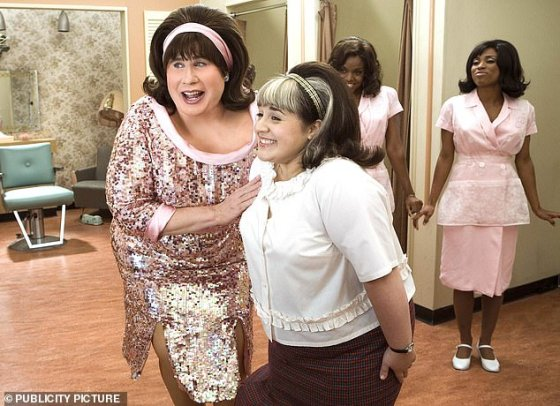 Leading Lady: Blonsky played the posh and talented plus-size teenager Tracy Turnblad, who made up for the chances of being on the local Baltimore-based dance show The Corny Collins Show