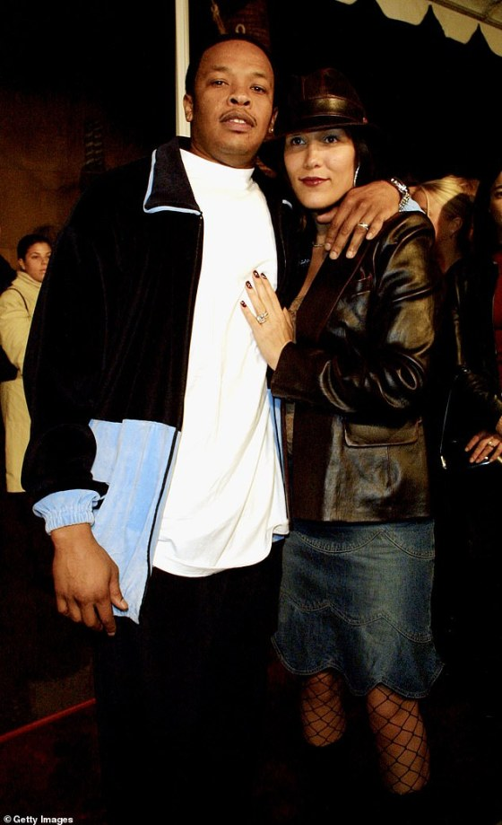 Decades together: The rap producer married Young in 1996, after she was married to NBA player Sedale Threat.  In June, she filed for divorce due to irreconcilable differences;  seen in 2001
