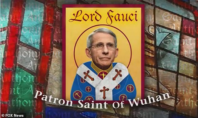 Fauci is mocked as the 'Patron Saint of Wuhan' after DC Mayor declares Christmas Eve 'Dr. Fauci Day'