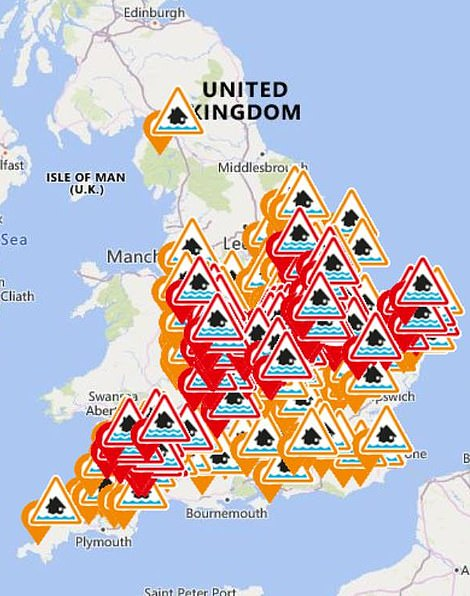 Environment Agency flood warnings and alerts