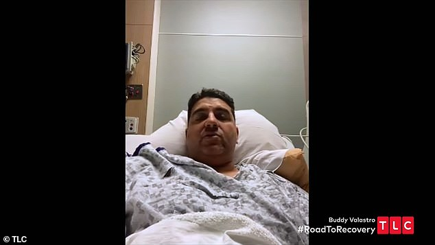 Intense pain: The celebrity baker after surgery recounted the accident from his bed and said the rod slowly went through his hand