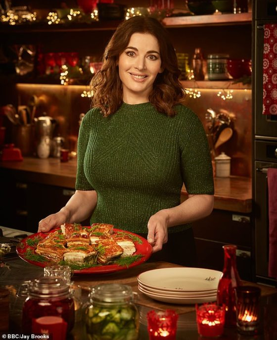 Nigella, pictured in her new BBC2 show about cooking, also revealed that she didn't feel