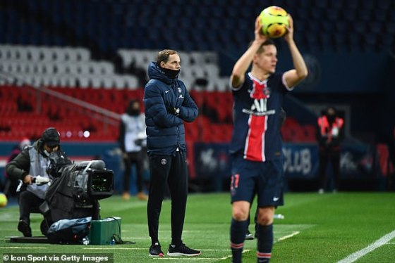 Tuchel oversaw PSG's 4-0 win over Racing Strasbourg at Princes' Park on Wednesday