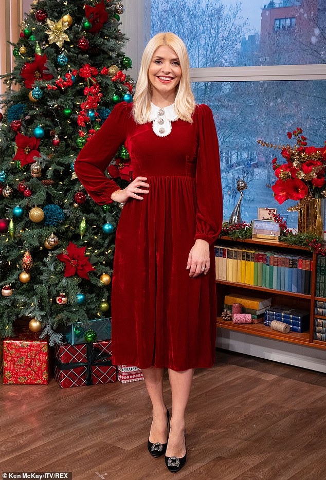 Special episode: The TV presenter, 39, made the comments while hosting the first ever Christmas Day episode of This Morning alongside her co-host Phillip Schofield