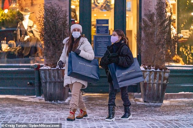 Early Christmas gift?They were seen enjoying a shopping outing with their youngest daughter Portia, 12; Kyle and Portia were seen leaving a Ralph Lauren store with large shopping bags