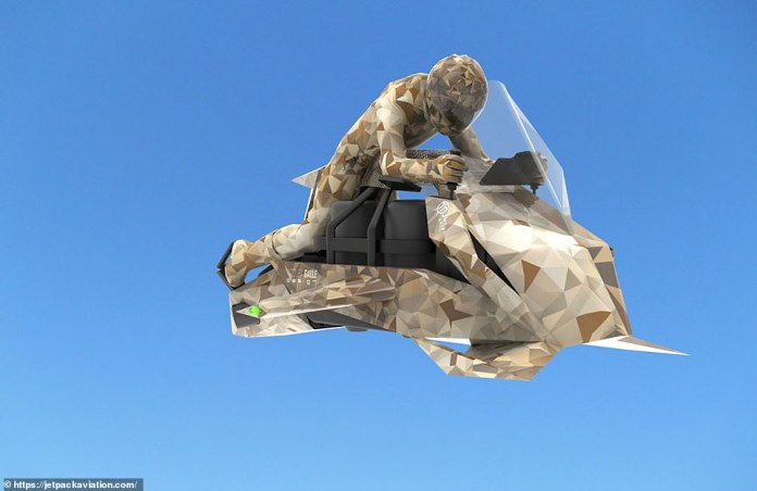 Jetpack Aviation is developing the Speeder, pictured above.  It has been described by the company as the `` world's first flying motorcycle '' with a mission to `` save lives ''