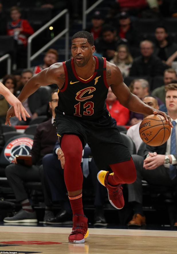 Bidding farewell: The Cavaliers picked Tristan in 2011 and were the addition of the team that broke a 52-year championship drought in Cleveland in 2016;  Tristan's picture in February