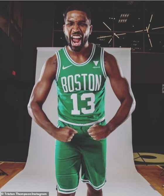 New gig: Khloé and True's trip to Boston followed after Tristan signed a two-year contract with the Boston Celtics for $ 19 million