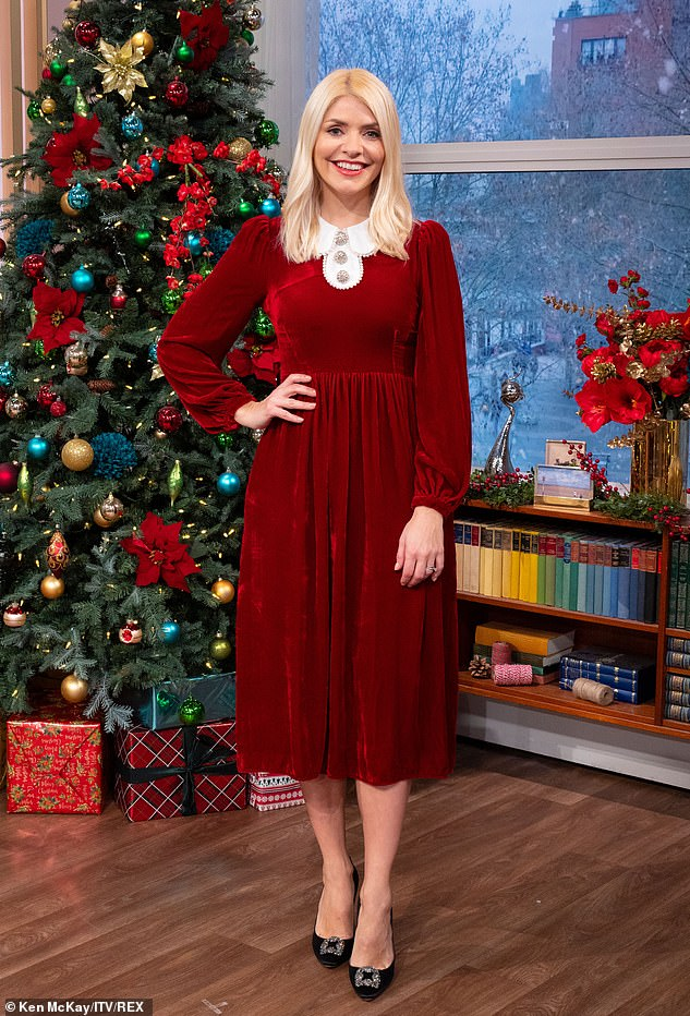 Special episode:The TV presenter, made the comments while hosting the first ever Christmas Day episode of This Morning alongside her co-host Phillip Schofield
