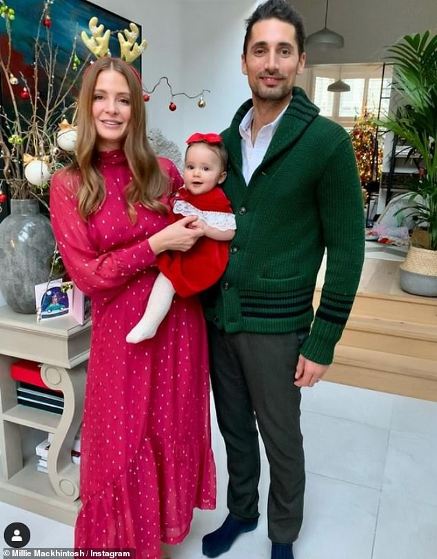Ex-wife: Pro Green was married to Millie Mackintosh from 2013-2016. Millie is now married to Hugo Taylor. They welcomed daughter Sienna in 2020 [pictured in December]