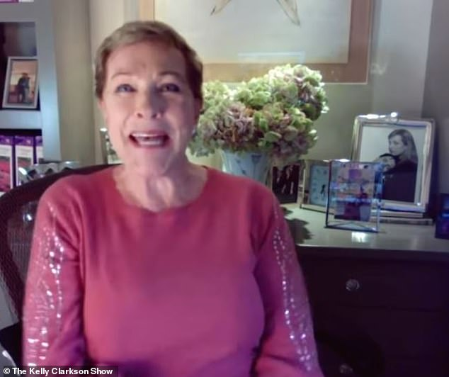 It's a hit! Audiences expressed their shock and awe at Dame Julie Andrews' Gossip Girl-style narration of Bridgerton once it aired on Christmas Day (pictured November 4)