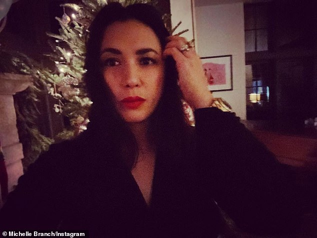 Sad:Michelle Branch revealed she suffered a miscarriage on Christmas Day