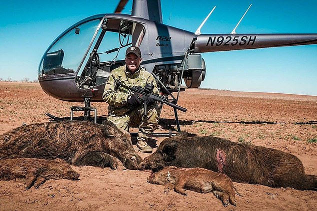 Hunters slaughtering pigs from the air is a craze dubbed ¿Hogpocalypse Now¿ ¿ apparently inspired by the 1979 film Apocalypse Now, in which a US soldier aboard a military helicopter shoots unarmed Vietnamese civilians