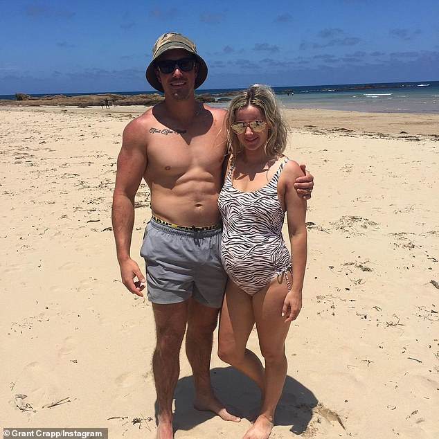 Baby love:Grant Crapp has announced that he is set to become a father. The former Love Island Australia star, 25, and his girlfriend of two years, Lucy Cartwright, shared the good news to Instagram on Sunday