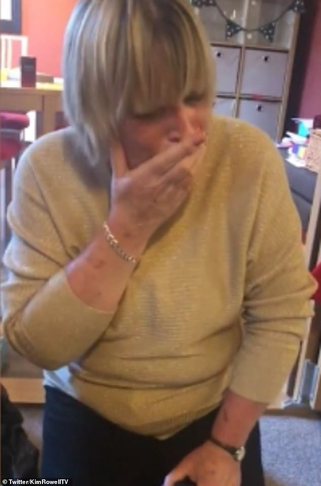 Kim Rowell surprised her mother Denise (pictured) with a replica of the engagement ring she sold to pay the bills