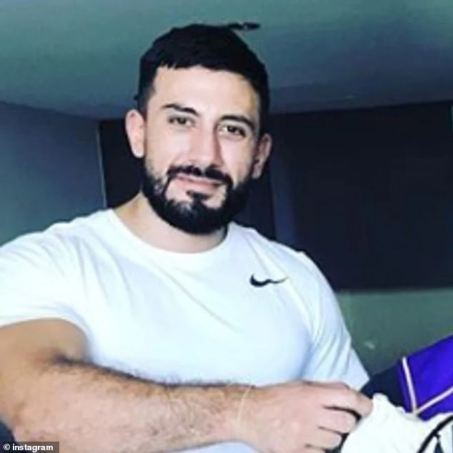 Split? Francesca reportedly recently split from Sam Zacharia (pictured), the personal trainer son of celebrity plastic surgeon Michael Zacharia, who she was believed to have been dating since last year. However she said they were just friends