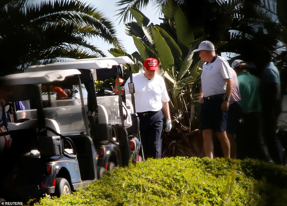 Trump plays golf after millions of Americans lose their unemployment benefits