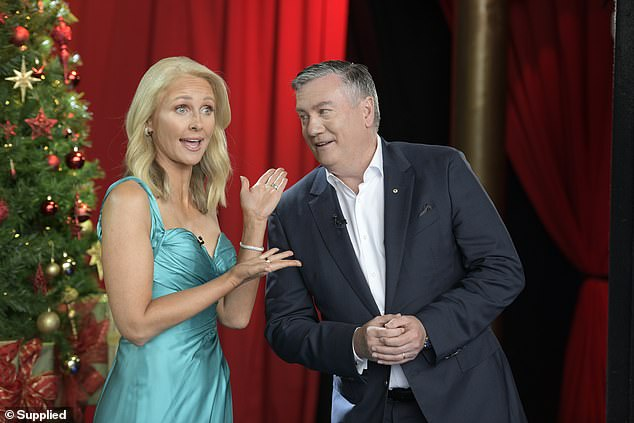 Oh no!Nine's Carols by Candlelight broadcast drew an impressive 971,000 metro viewers on Christmas Eve, but by Sunday but by Sunday the number was re-calculated to 542,000 viewers. Pictured:Carols By Candlelight's Eddie McGuire and co-host Livinia Nixon
