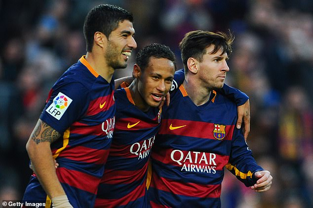 He disclosed that he still keeps in touch with Suarez and their former attacking partner Neymar