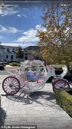 Surprise! The 28-year-old Grammy-nominated rapper spoiled their precious princess with her very own Cinderella-style carriage on Christmas morning