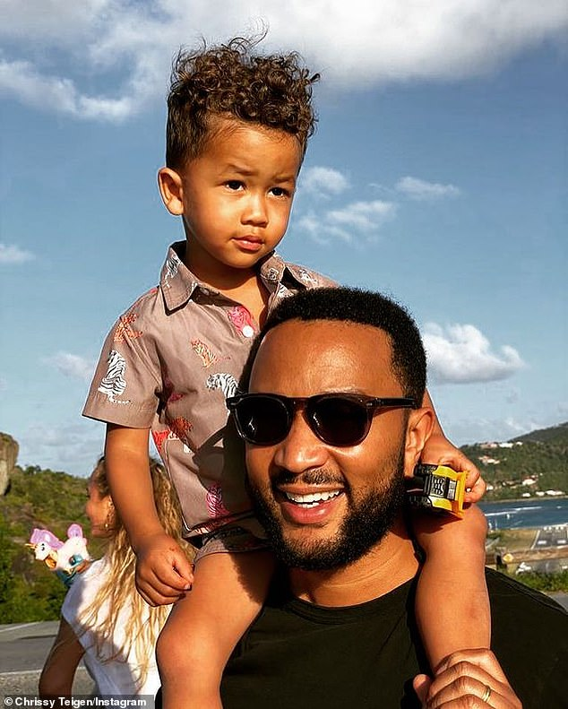 So cute: Miles is the spitting image of his famous dad