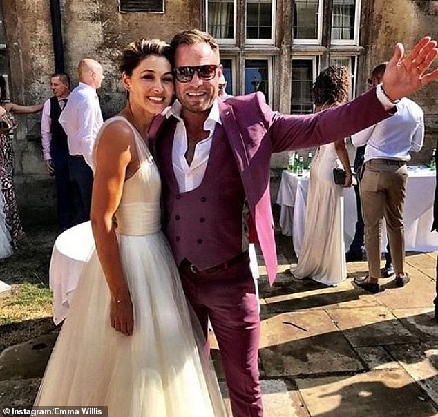 Loved-up:Emma tied the knot with her longtime partner Matt in 2008 and the smitten couple renewed their vows 10 years later in 2018 (pictured above)