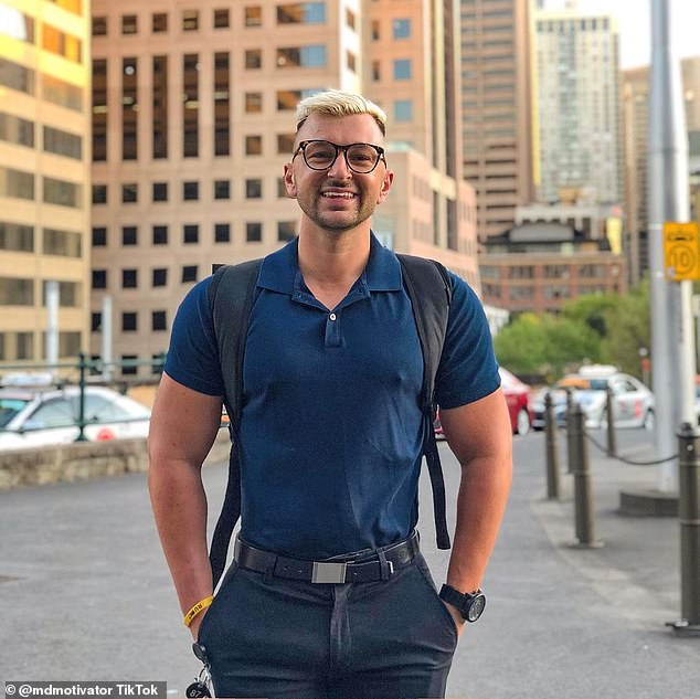 Zachery (pictured) revealed what he wishes 'people without anxiety knew' - including the fact that anxiety is not something you can switch on or off and how it can impact everything from your sleep to your appetite and mood