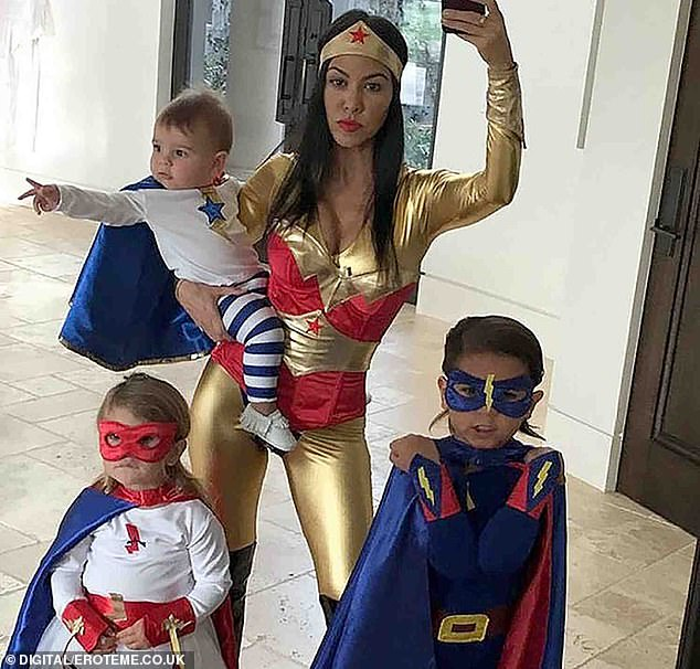 Mom-of-three: Kourtney is the mom to Mason, 11, Penelope, eight, and Reign, six, who she shares with ex Scott Disick