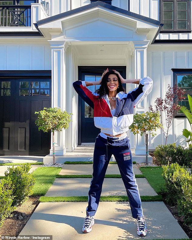 Proud moment: The runway maven, 26, proudly showed off her 'new Cali crib' to her 8.4million Instagram followers on Sunday afternoon
