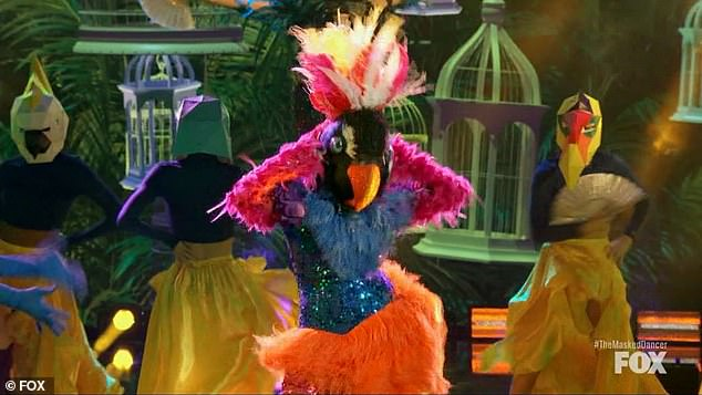 Nice footwork:Exotic Bird danced to Con Calma by Daddy Yankee and Katy Perry and Paula admired her footwork