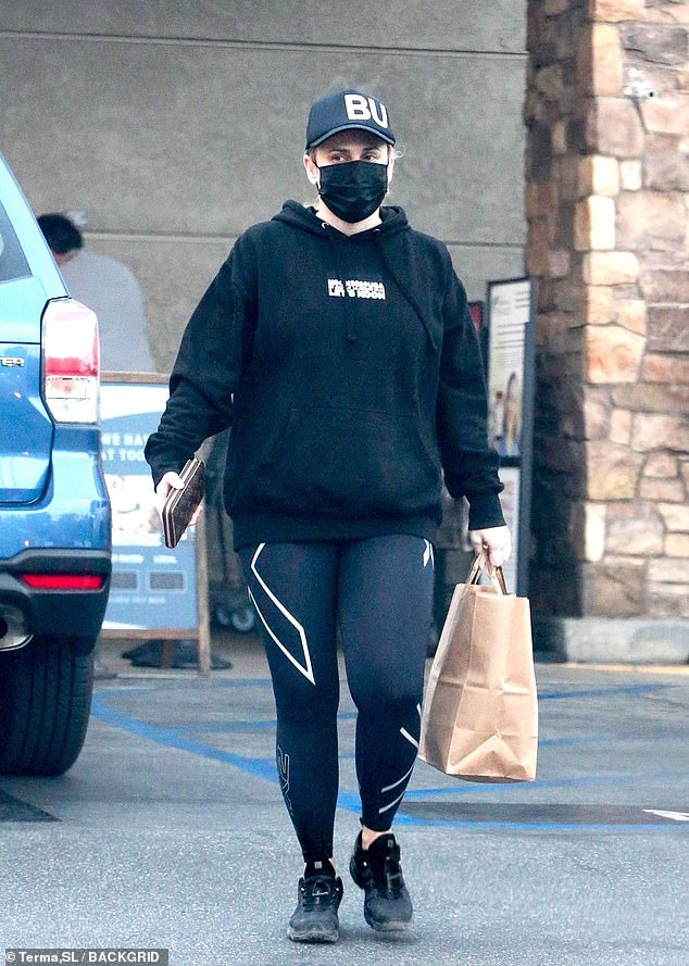 Rebel Wilson gets groceries in black athletic wear after returning from her ski trip to Aspen