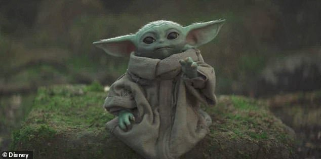 Disney+, which launched on the first day of lockdown in Spring, has seen 3.5million Britons sign up - with popularity driven by exclusives including hit Broadway musical Hamilton and Star Wars spin-off The Mandalorian (pictured is baby Yoda in the series), making it the third most popular streaming site ahead of Sky's Now TV.