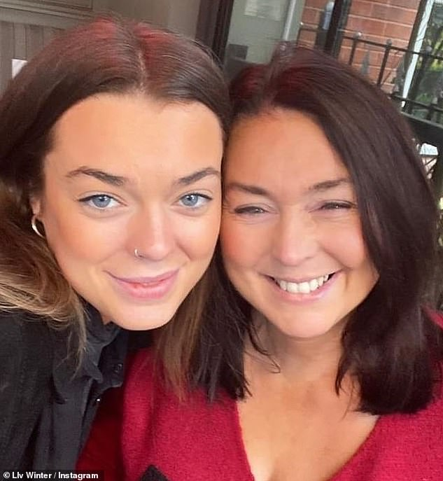 Liv wrote in a heartbreaking post:'Raise a glass of red for our Mich tonight. I love you mum, I see you in the stars and I feel you in the air, I love you I love you I love you. Olivia x'