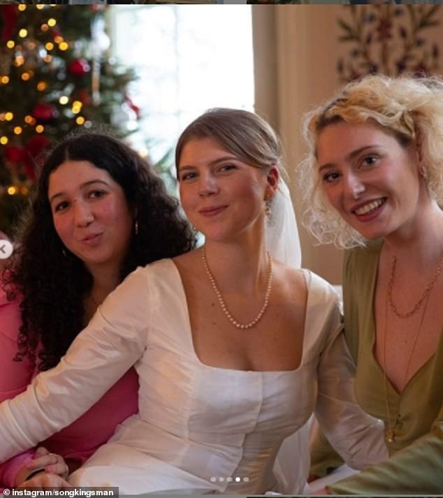 In another photograph taken at the reception of the wedding, Coco posed with a friend and her sister Song