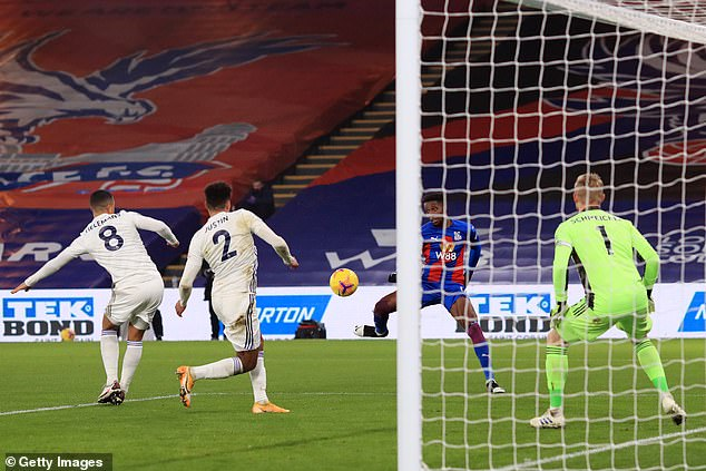Wilfried Zaha put Palace ahead just before the hour mark with a lovely side-footed volley