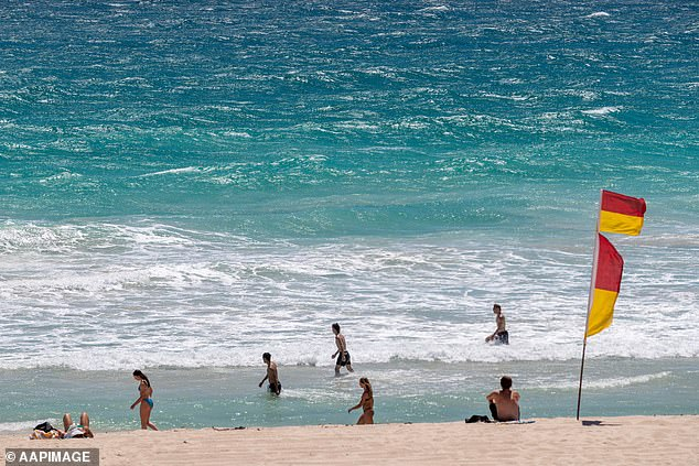 Perth will reach a top of 33C on New Year's Eve. Pictured are beachgoers atScarborough Beach in November