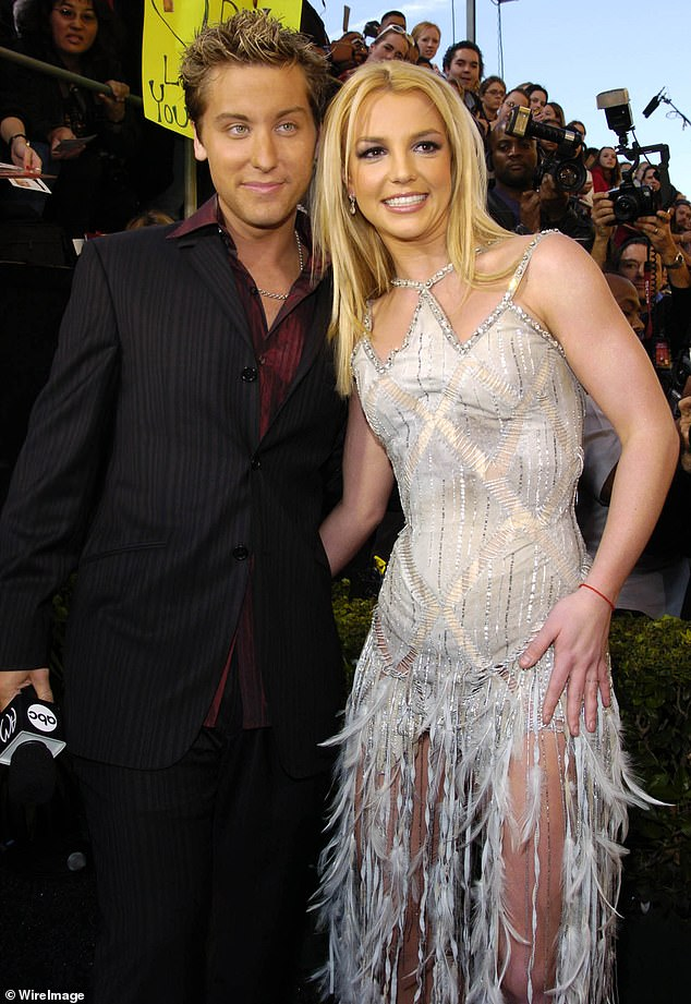 'I definitely feel for her': NSYNC's Lance Bass weighed in on the 'Free Britney Spears movement' and says 'if she wants out of the conservatorship we should listen to her' (pictured together)