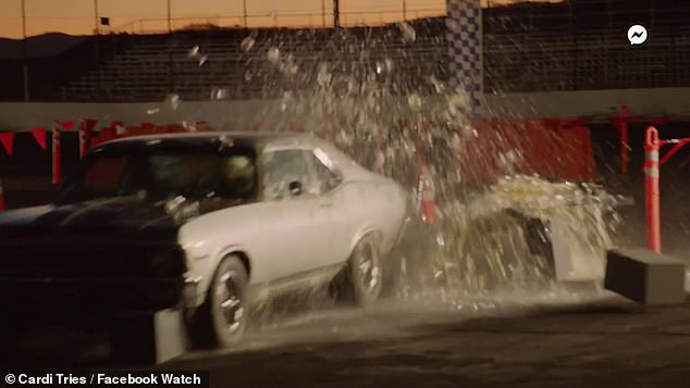 Best of the best: Teaching her specifically how 'not to crash' was Brie, who is a professional stunt driver for seven years and worked on Fast and Furious 8 and Black Panther