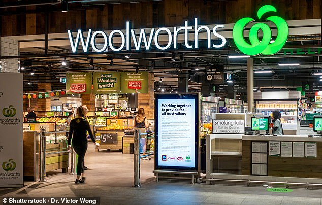 A Woolworths spokesman said the supermarket had recalled the dairy product in the ACT, Victoria and a limited number of stores in NSW.