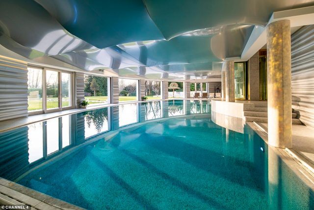 The enormous home, which is just six miles from Selfridge's, also comes with a gym, spa room, steam room, one of the largest inside pools and a tennis court