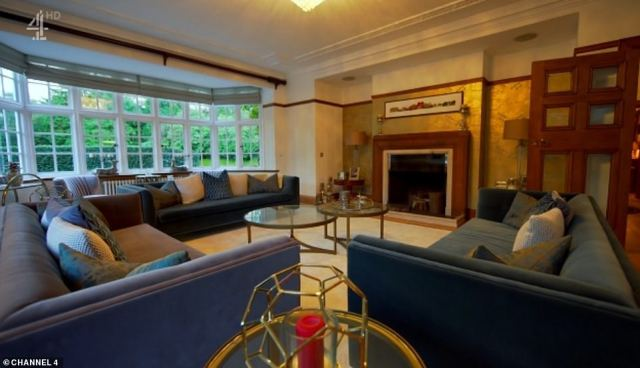 Hidden behind private electric gates, the house had a stunning reception room as well as a floodlit tennis court, tree house, zip line, pond and summer house