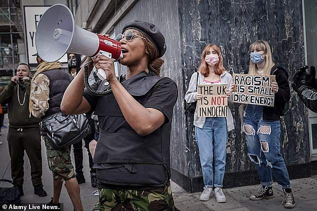 Sasha Johnson first came to public prominence as an organiser of the BLM protests in London earlier this year, where she was seen addressing crowds