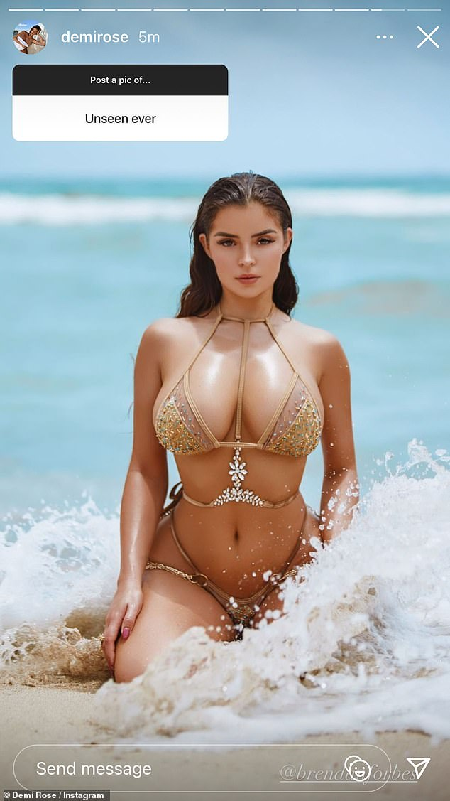 Wow!Demi Rose was up to her old tricks once again on Tuesday as she took to Instagram to send temperatures soaring with a slew of sexy throwback snaps