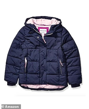 The child's heavy weight hooded puffer coat from the Amazon Essentials range is now reduced to £23.83