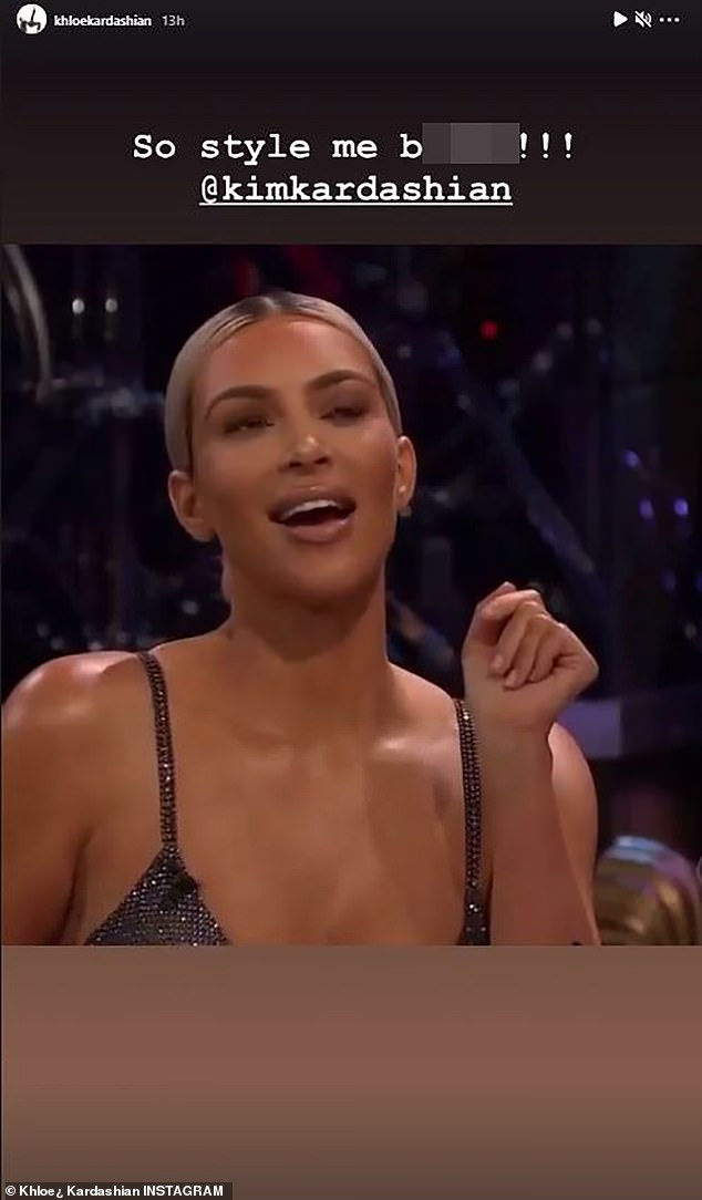 Jokes: The 36-year-old lamented a time when Kim Kardashian deemed her the worst dressed family member while appearing on The Late Late Show with James Corden in 2017