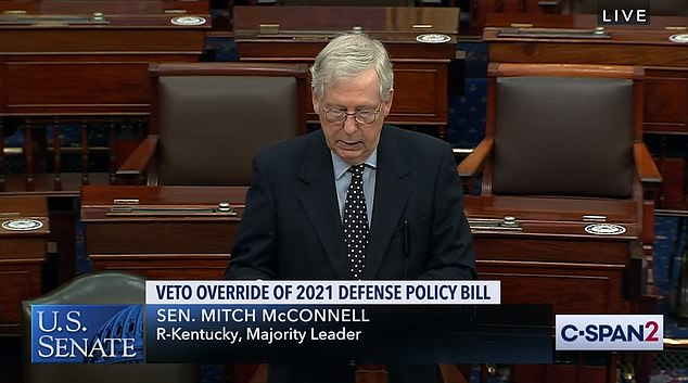 Senate Majority Leader Mitch McConnell on Tuesday blocked Democrats' request to quickly pass a bill increasing direct checks for Americans from $600 to $2,000