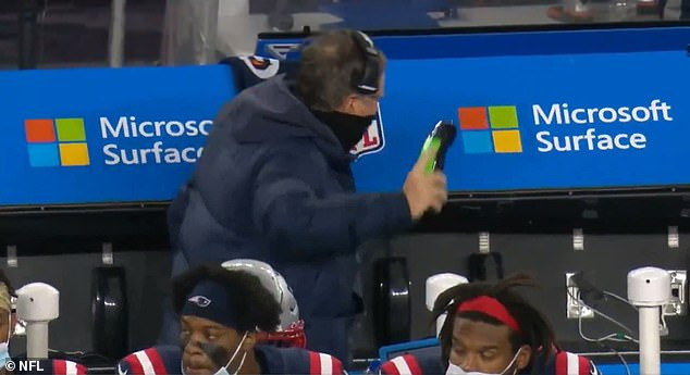As seen in a video that has since gone viral, Belichick stormed over to the sideline phone and, presumably, spoke with an assistant coach before angrily slamming the receiver to pieces